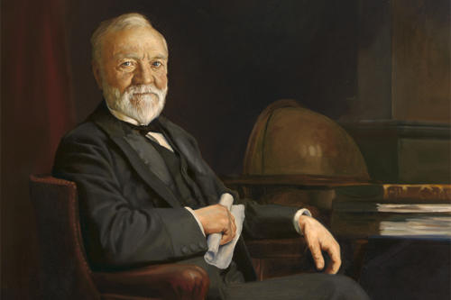 Painted Portrait of Andrew Carnegie