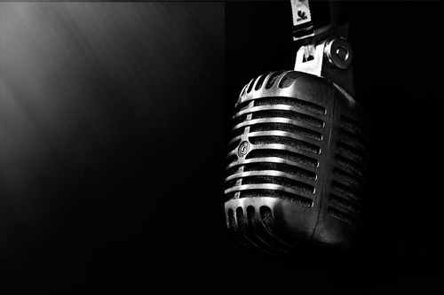 Picture of old style microphone